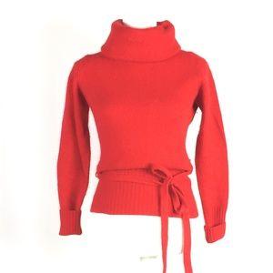 Vintage Evian lambswool cowl neck sweater